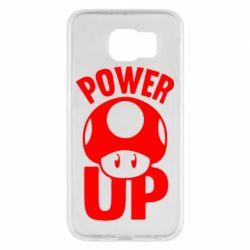 Чехол для Samsung S6 Power Up гриб Марио