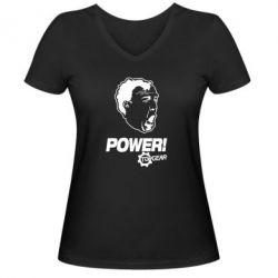 Жіноча футболка з V-подібним вирізом Power