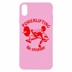 Чехол для iPhone Xs Max Powerlifting be Stronger