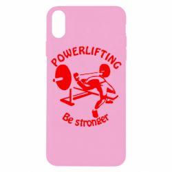 Чехол для iPhone X/Xs Powerlifting be Stronger