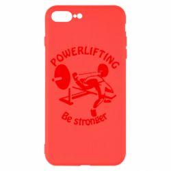 Чехол для iPhone 8 Plus Powerlifting be Stronger