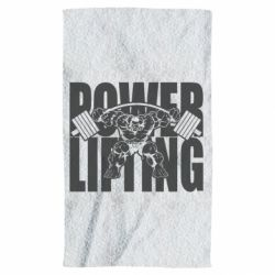 Полотенце Powerlifting logo