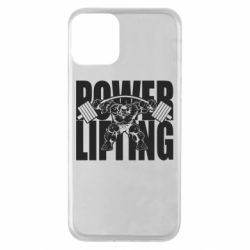 Чехол для iPhone 11 Powerlifting logo