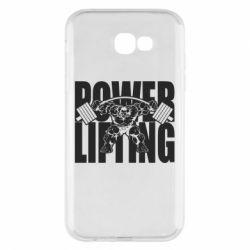Чохол для Samsung A7 2017 Powerlifting logo