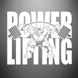 Наклейка Powerlifting logo