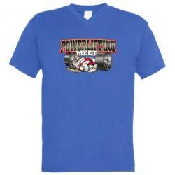 Мужская футболка  с V-образным вырезом Powerlifting Meet - FatLine