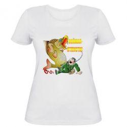 Жіноча футболка Зловив - Відпусти