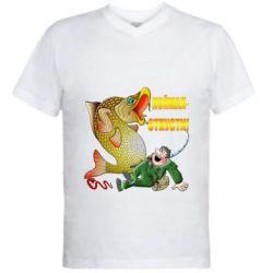 Чоловіча футболка з V-подібним вирізом Зловив - Відпусти