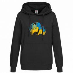 Женская толстовка Прапор України з гербом - FatLine
