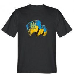 Мужская футболка Прапор України з гербом - FatLine