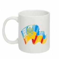 Кружка 320ml Прапор України з гербом - FatLine