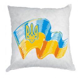 Подушка Прапор України з гербом - FatLine
