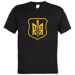 Мужская футболка  с V-образным вырезом Правий сектор - FatLine