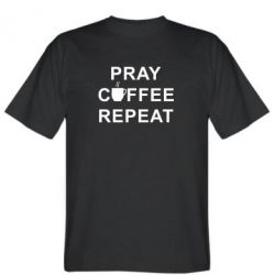 Футболка Pray, coffee, repeat