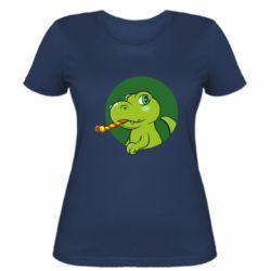 Жіноча футболка Святковий динозавр