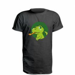 Подовжена футболка Святковий динозавр