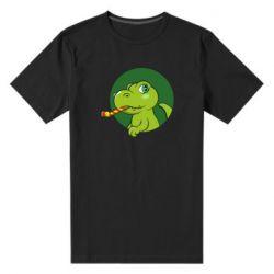 Чоловіча стрейчева футболка Святковий динозавр