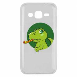 Чохол для Samsung J2 2015 Святковий динозавр