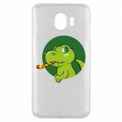 Чохол для Samsung J4 Святковий динозавр