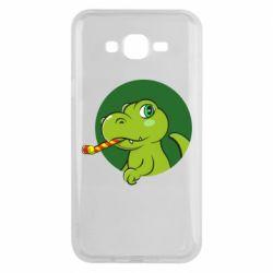 Чохол для Samsung J7 2015 Святковий динозавр