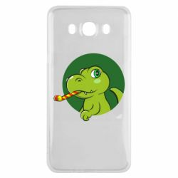Чохол для Samsung J7 2016 Святковий динозавр