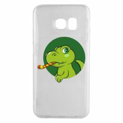 Чохол для Samsung S6 EDGE Святковий динозавр