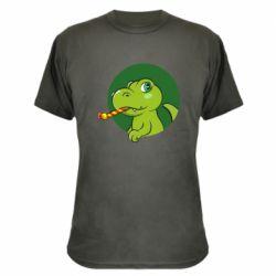 Камуфляжна футболка Святковий динозавр
