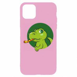 Чохол для iPhone 11 Святковий динозавр