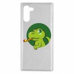 Чохол для Samsung Note 10 Святковий динозавр