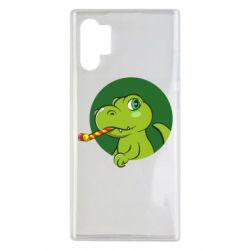 Чохол для Samsung Note 10 Plus Святковий динозавр