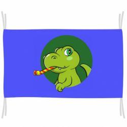 Прапор Святковий динозавр