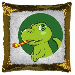 Подушка-хамелеон Святковий динозавр