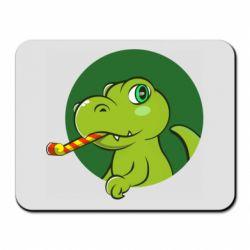 Килимок для миші Святковий динозавр