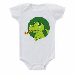 Дитячий бодік Святковий динозавр