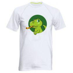 Чоловіча спортивна футболка Святковий динозавр