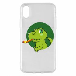 Чохол для iPhone X/Xs Святковий динозавр