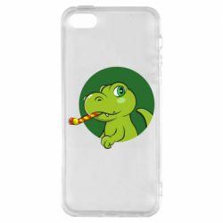Чохол для iphone 5/5S/SE Святковий динозавр