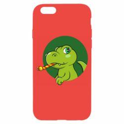 Чохол для iPhone 6/6S Святковий динозавр
