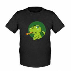 Дитяча футболка Святковий динозавр