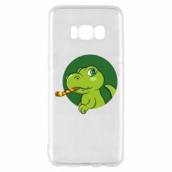 Чохол для Samsung S8 Святковий динозавр