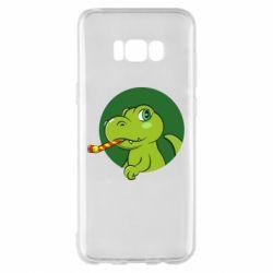 Чохол для Samsung S8+ Святковий динозавр