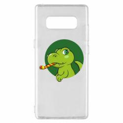 Чохол для Samsung Note 8 Святковий динозавр