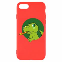 Чохол для iPhone 8 Святковий динозавр