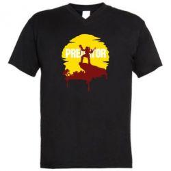 Чоловіча футболка з V-подібним вирізом Predator