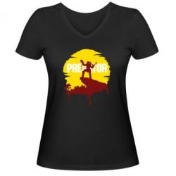 Жіноча футболка з V-подібним вирізом Predator