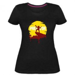 Жіноча стрейчева футболка Predator