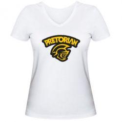 Женская футболка с V-образным вырезом Pretorian - FatLine