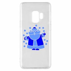 Чохол для Samsung S9 Прикольний дід мороз