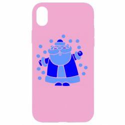 Чохол для iPhone XR Прикольний дід мороз