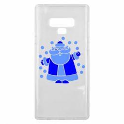 Чохол для Samsung Note 9 Прикольний дід мороз